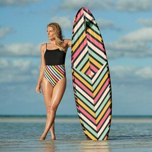 NWT Roxy Pop black one piece swimsuit, S